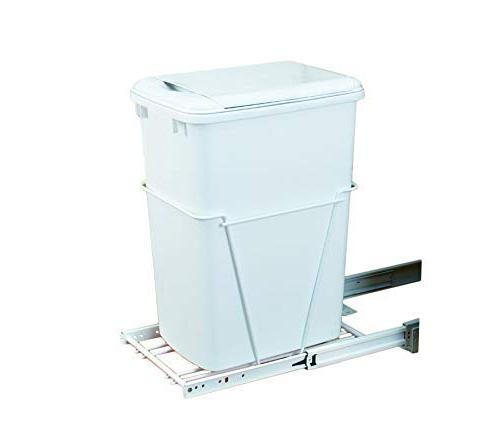 Rev-A-Shelf 35 QT Pullout Lid Waste Containers White
