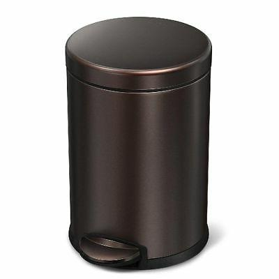 4 5 liter round step trash can