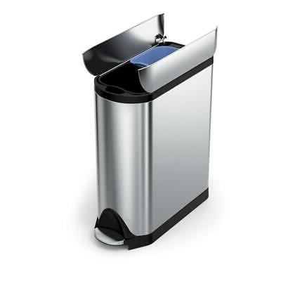 Simplehuman Liter 10.6 Butterfly Recycler Dual Trash