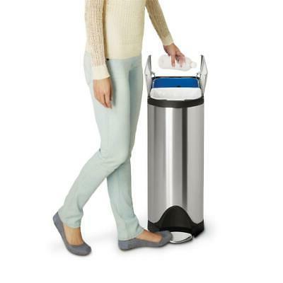 Simplehuman Liter 10.6 Gallon Dual Step Trash