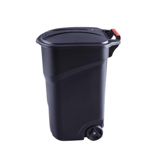 45 Gal. Trash Can Garbage w/ Lid Outdoor Large