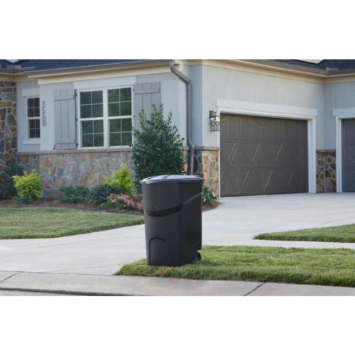 45 Trash Can Garbage Bin w/ Wheels Outdoor