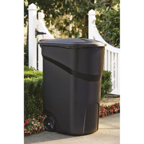 45 Wheeled Trash Garbage Bin w/ Rolling Outdoor