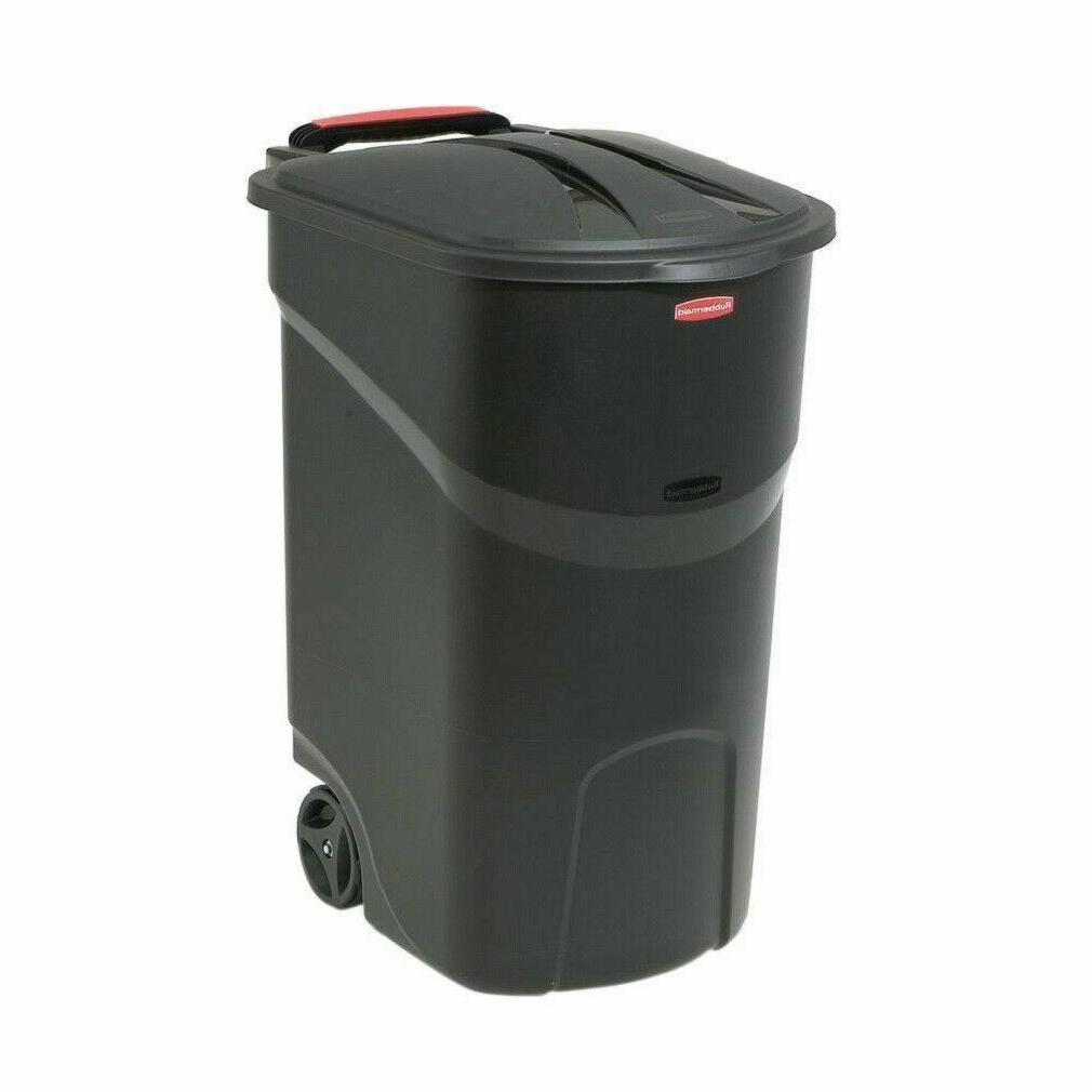 45 gallon plastic wheeled trash can bin