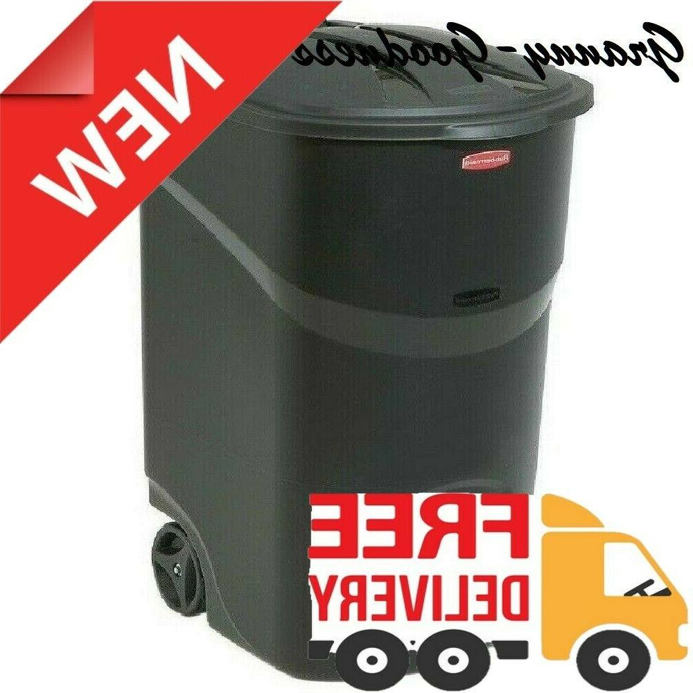 45 gallon trash can with lid wheel