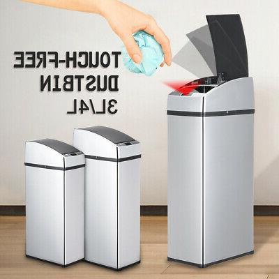 4l touchless automatic sensor waste bin stainless