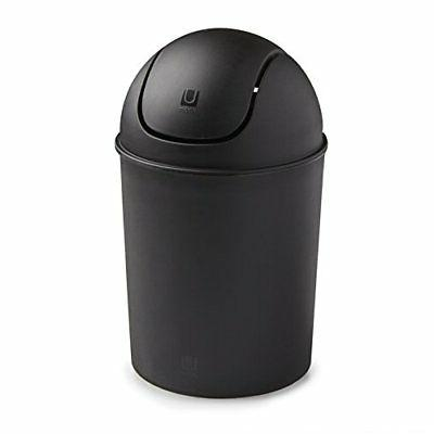 5 L Round Trash Can Swing Top Lid Bucket Bin Waste Compact O