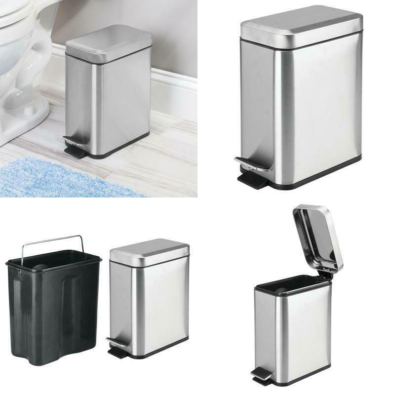 5 liter rectangular small metal step trash