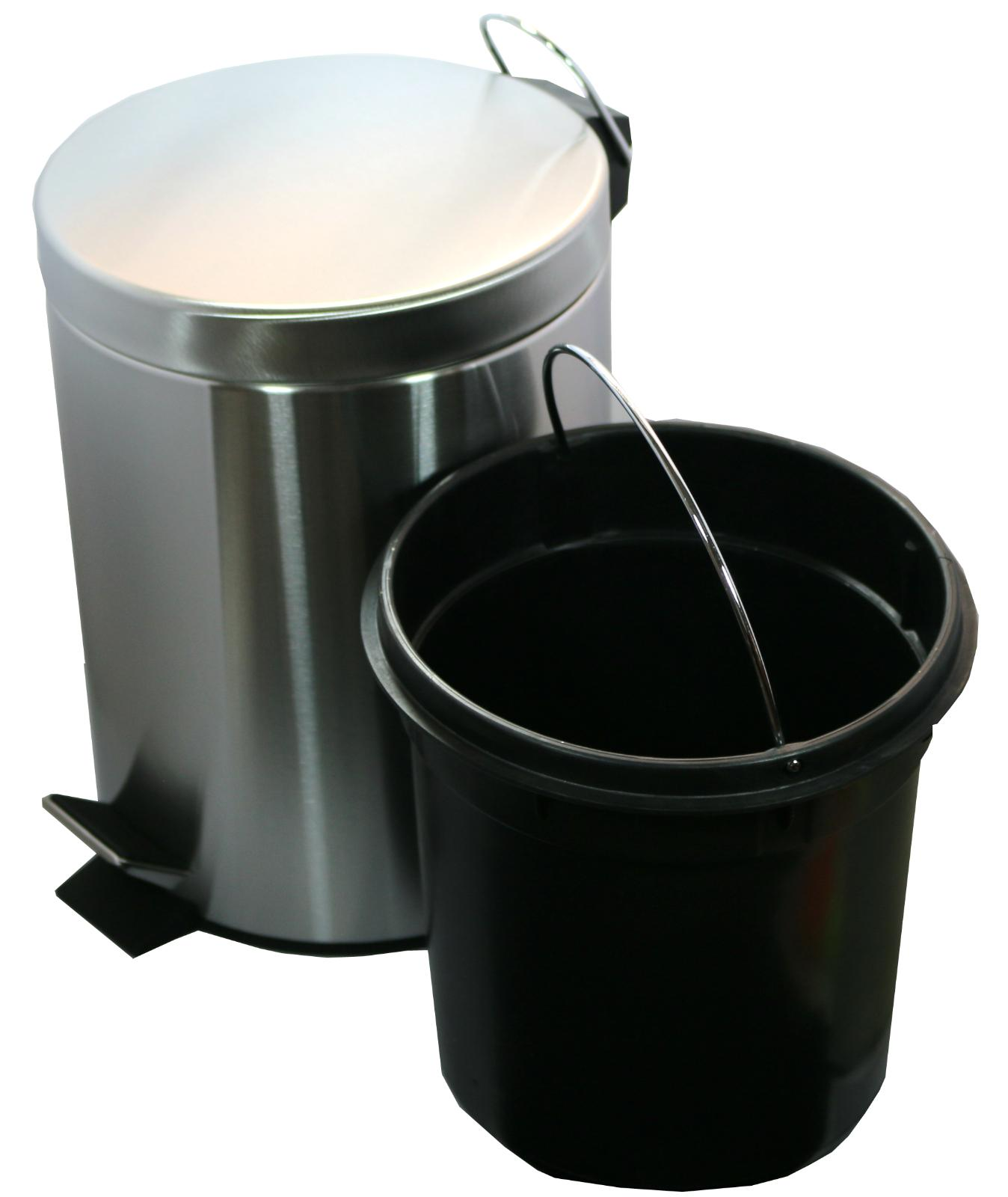 5 Liter/1.3 Round Stainless Steel Step Trash Can