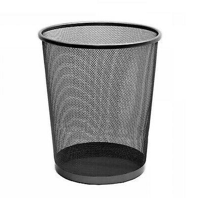 6 Gallon Trash Can Garbage Waste Bin Wastebasket Mesh Metal