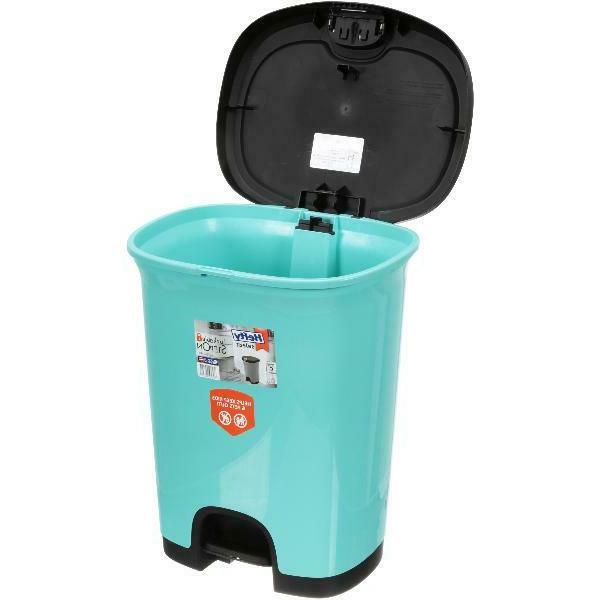 7 Gallon Step-On Trash Can with Lid Lock and Bottom Cap Wast