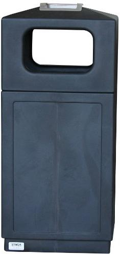 Forte Products 8002155 Hooded Top Waste Can with Ashtray, 21