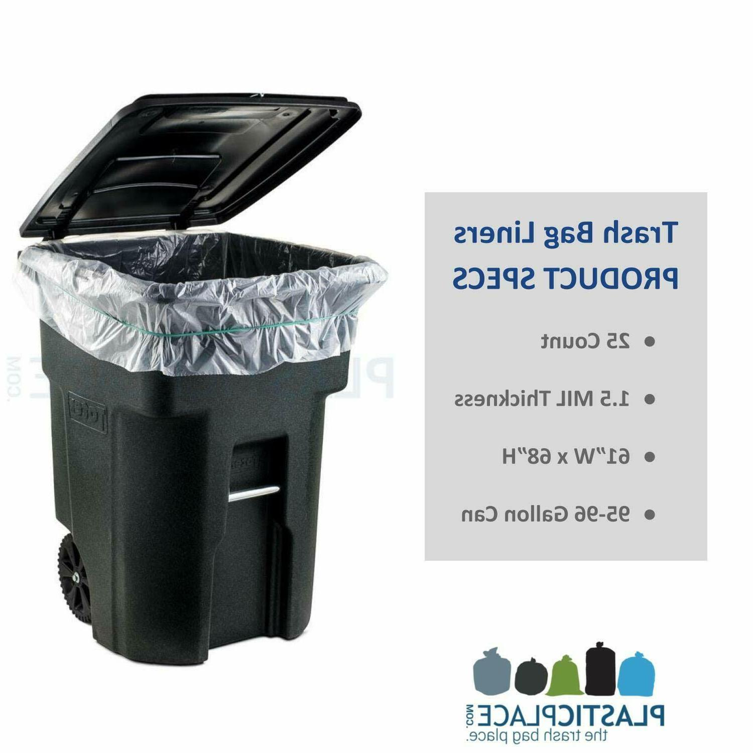 96 GALLON CAN Garbage Container Outdoor Bin Basket Wheel