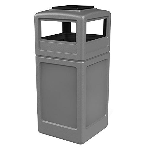 Commercial Industrial Square Waste Container with Ashtray Li