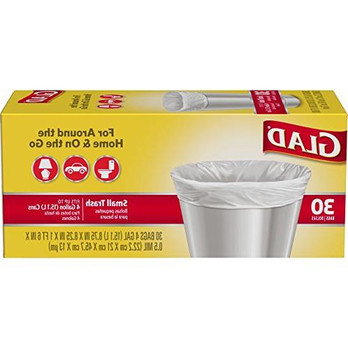 Glad Small Trash Bags - 4 Gallon - 30 Count