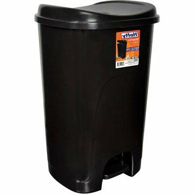Hefty Step-On 13-Gallon Trash Can, Black