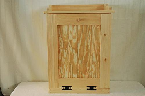 Kenzie's Kreations Handcrafted Wooden Trash Can, 13 Gallon