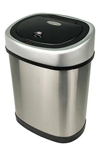 NINESTARS Automatic Touchless Infrared Can Combo Gal Gal 12L, Stainless