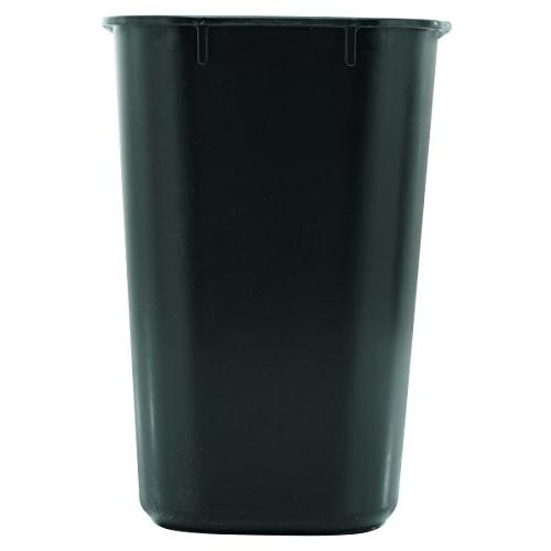Rubbermaid Commercial Plastic Wastebasket, 1/2 Black