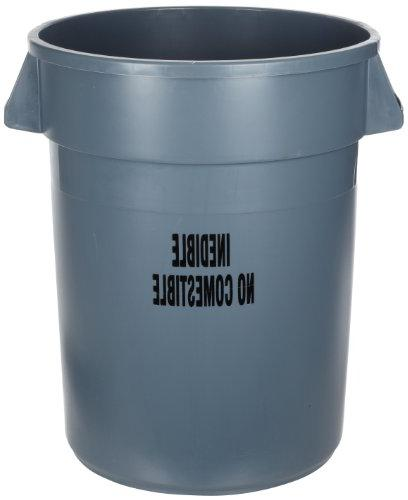 Rubbermaid Commercial FG264356GRAY Brute Plastic Trash Can w