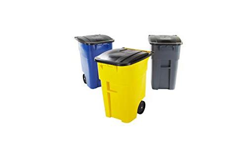 Rubbermaid Rollout Recycling Can/Bin, 50-gallon