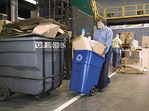 Rollout Recycling Can/Bin, 50-gallon