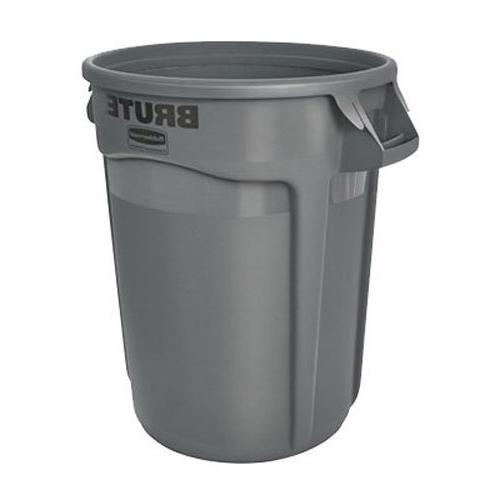 Heavy-Duty Trash/Garbage Can, Gray
