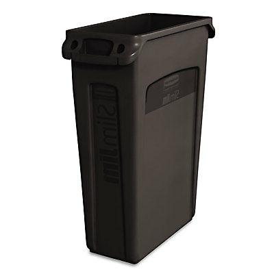Rubbermaid Commercial Slim Jim Receptacle with Venting Chann