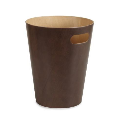 Umbra Modern Wooden Wastebasket or for or Espresso