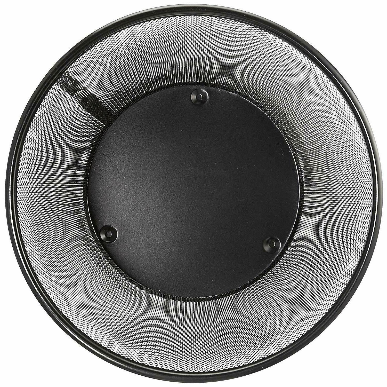 AmazonBasic Wastebasket Black Steel 6-Pack