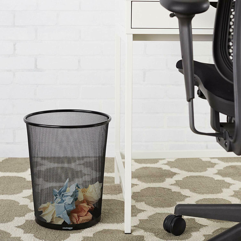 AmazonBasic Mesh Wastebasket Steel 6-Pack NEW