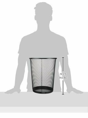 AmazonBasic Mesh Trash Wastebasket Steel 6-Pack DS-018_6