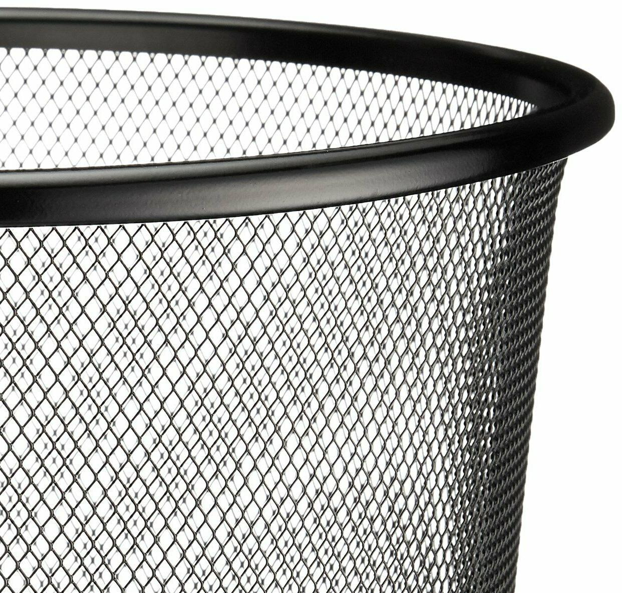 AmazonBasic Can Wastebasket Black 6-Pack DS-018_6