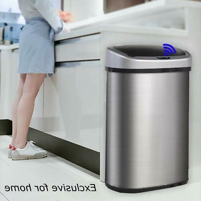 BestOffice Trash Can Stainless 13 /