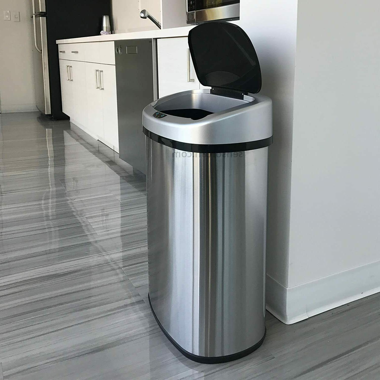 automatic sensor kitchen trash can 13 gallon battery-free
