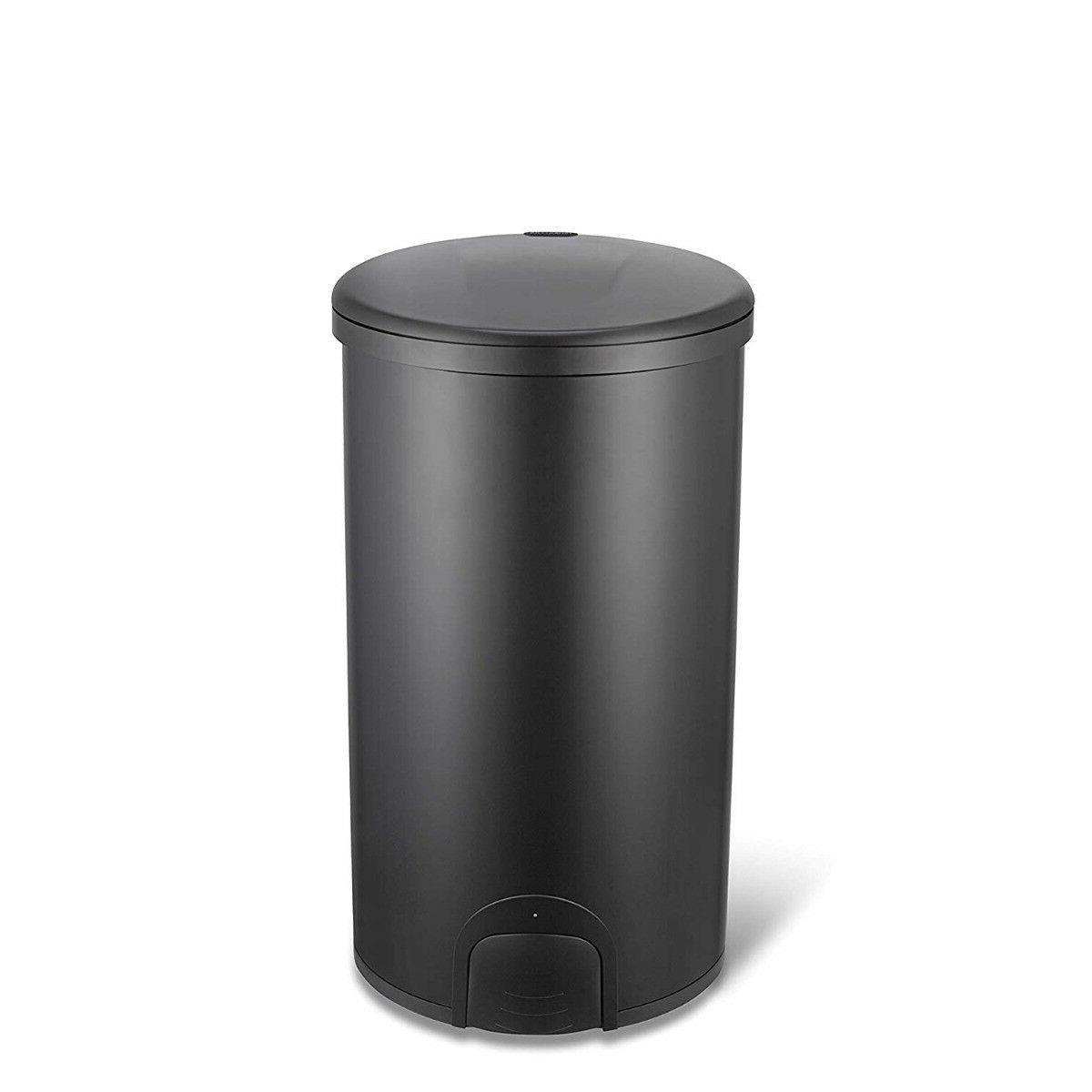 Ninestars Tap Sensor 12 Gal 45L Black Stainless Steel Round Can