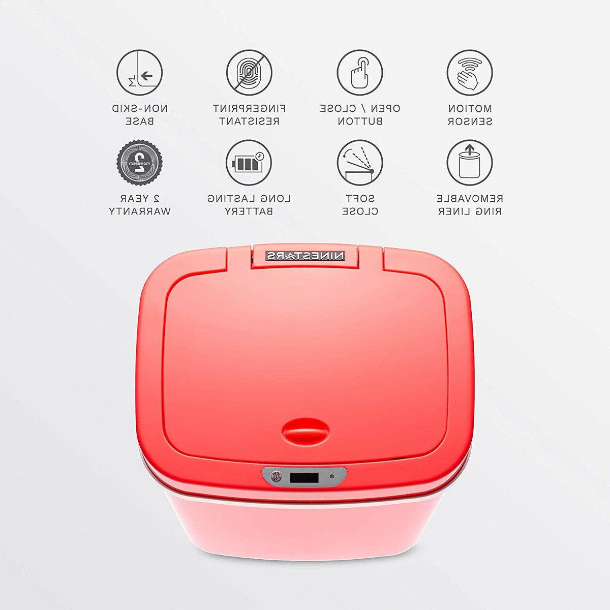 Ninestars Motion Sensor 3 Gallon 12L Red Can