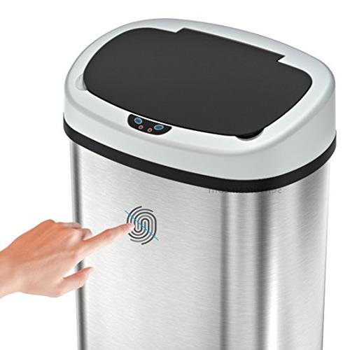 SensorCan OS13KT Sensor Kitchen Trash Odor Shape, 13 Gallon, Steel