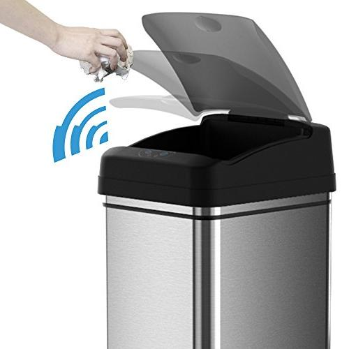 iTouchless Automatic Touchless Sensor Can with Adapter, Odor Filter Deodorizer, Limited