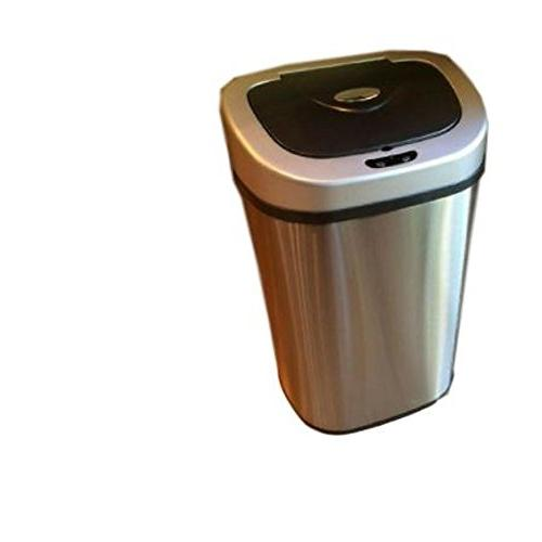 automatic trash can metal stainless