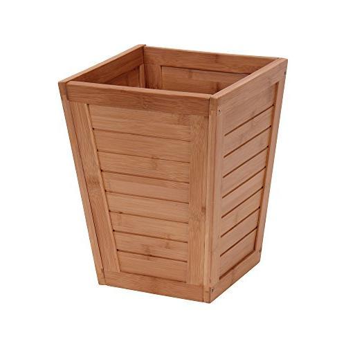 bamboo slat trash can