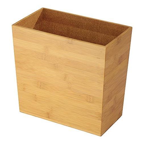 bamboo trash can bedroom wastebasket
