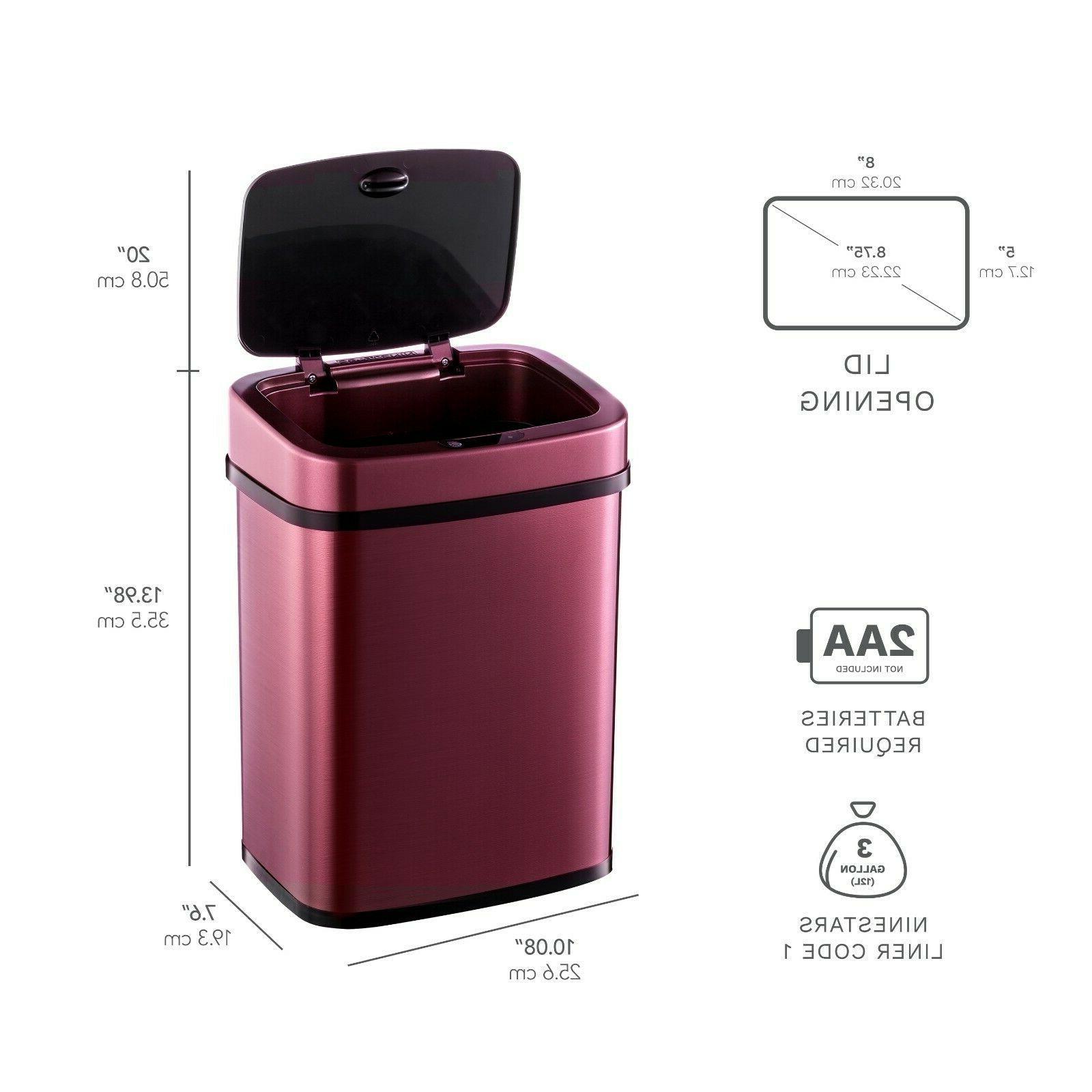 Ninestars Automatic Touchless Sensor Trash