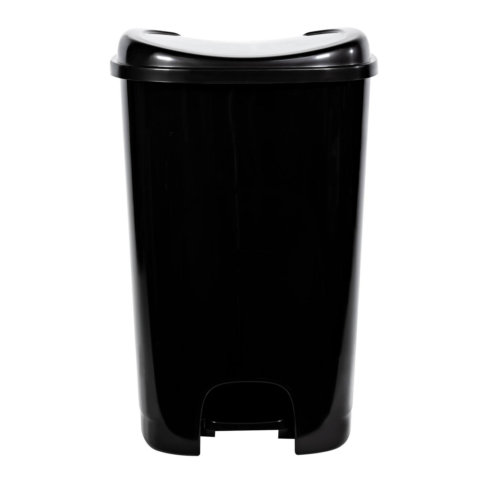 Black Trash Can On Foot Pedal Kitchen