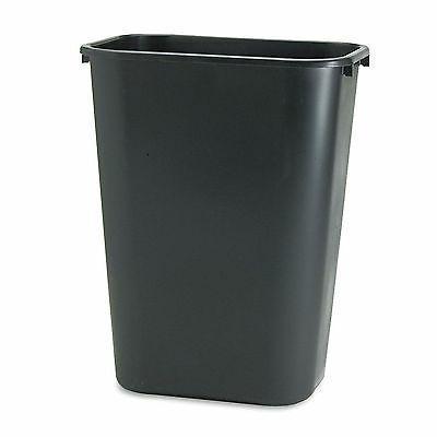Rubbermaid Black Soft Molded 10.25 gallon Plastic Trash Wast