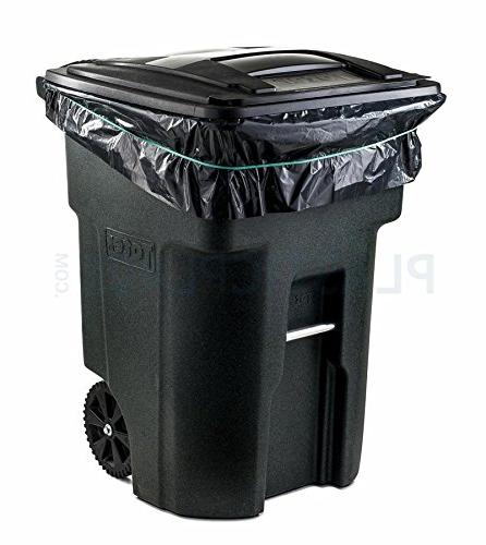 64 Gallon Trash for Toter, Black, 1.5MIL, Case