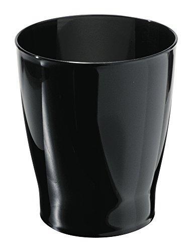 black wastebasket trash