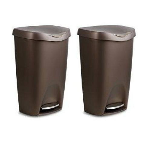 Umbra Brim Large Kitchen Trash Can with Stainless