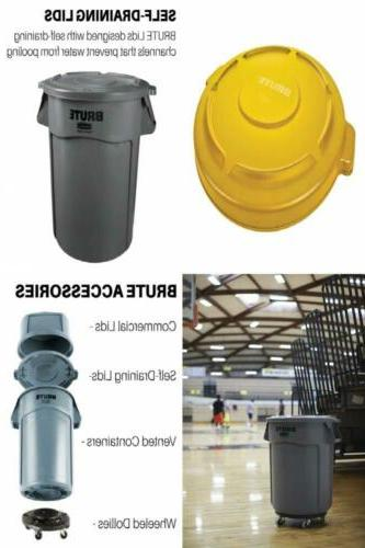 brute heavy duty round trash can container
