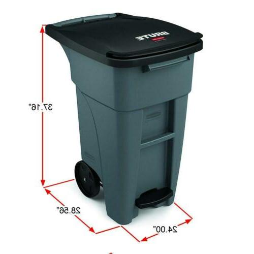 Rubbermaid Products BRUTE Rollout Step Can,...